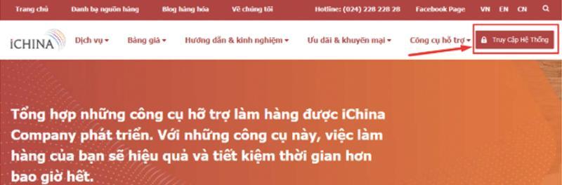 Đăng ký tài khoản trên iChina Company để sử dụng dịch vụ